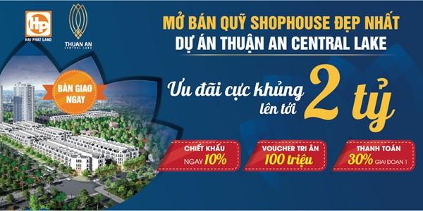 Chiết khấu tới 2 tỷ đồng khi mua Shophouse Thuận An Central Lake - Ảnh 1.