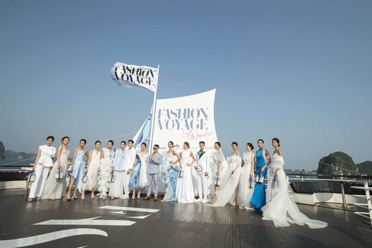Trên sàn catwalk du thuyền 5 sao, BST từ cảm hứng thời trang thuần khiết lên ngôi trong sự choáng ngợp, mãn nhãn - Ảnh 1.