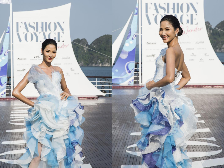 Trên sàn catwalk du thuyền 5 sao, BST từ cảm hứng thời trang thuần khiết lên ngôi trong sự choáng ngợp, mãn nhãn - Ảnh 3.