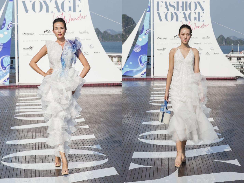 Trên sàn catwalk du thuyền 5 sao, BST từ cảm hứng thời trang thuần khiết lên ngôi trong sự choáng ngợp, mãn nhãn - Ảnh 9.
