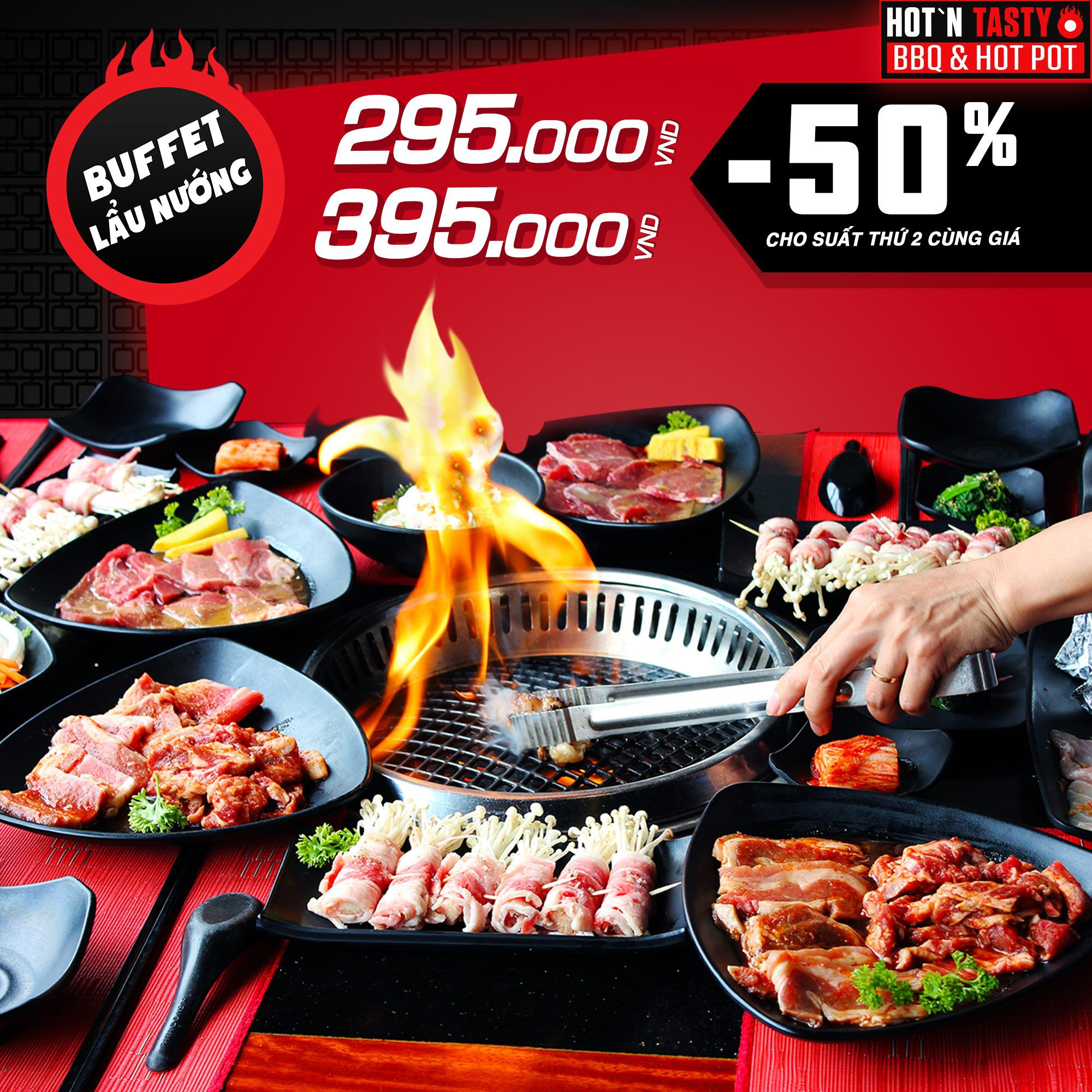 Hot hơn cả mùa hè Hà Nội – buffet lẩu nướng hơn 50 món tại HotnTasty đang giảm 50% người thứ 2 - Ảnh 3.