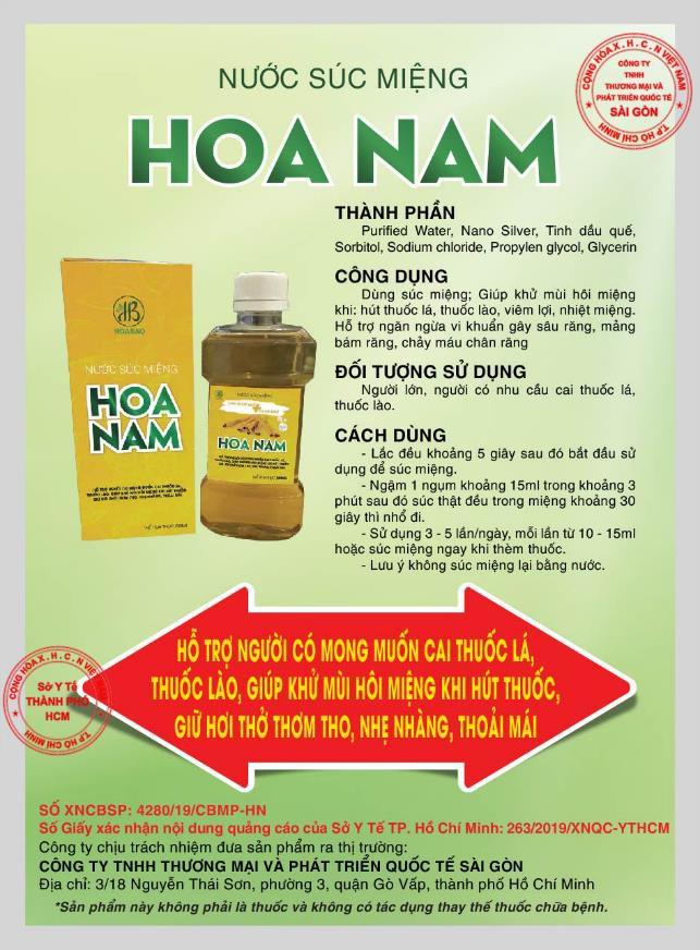 Nước súc miệng Hoa Nam hỗ trợ người cai thuốc lá ngăn ngừa vi khuẩn gây chảy máu chân răng - Ảnh 3.