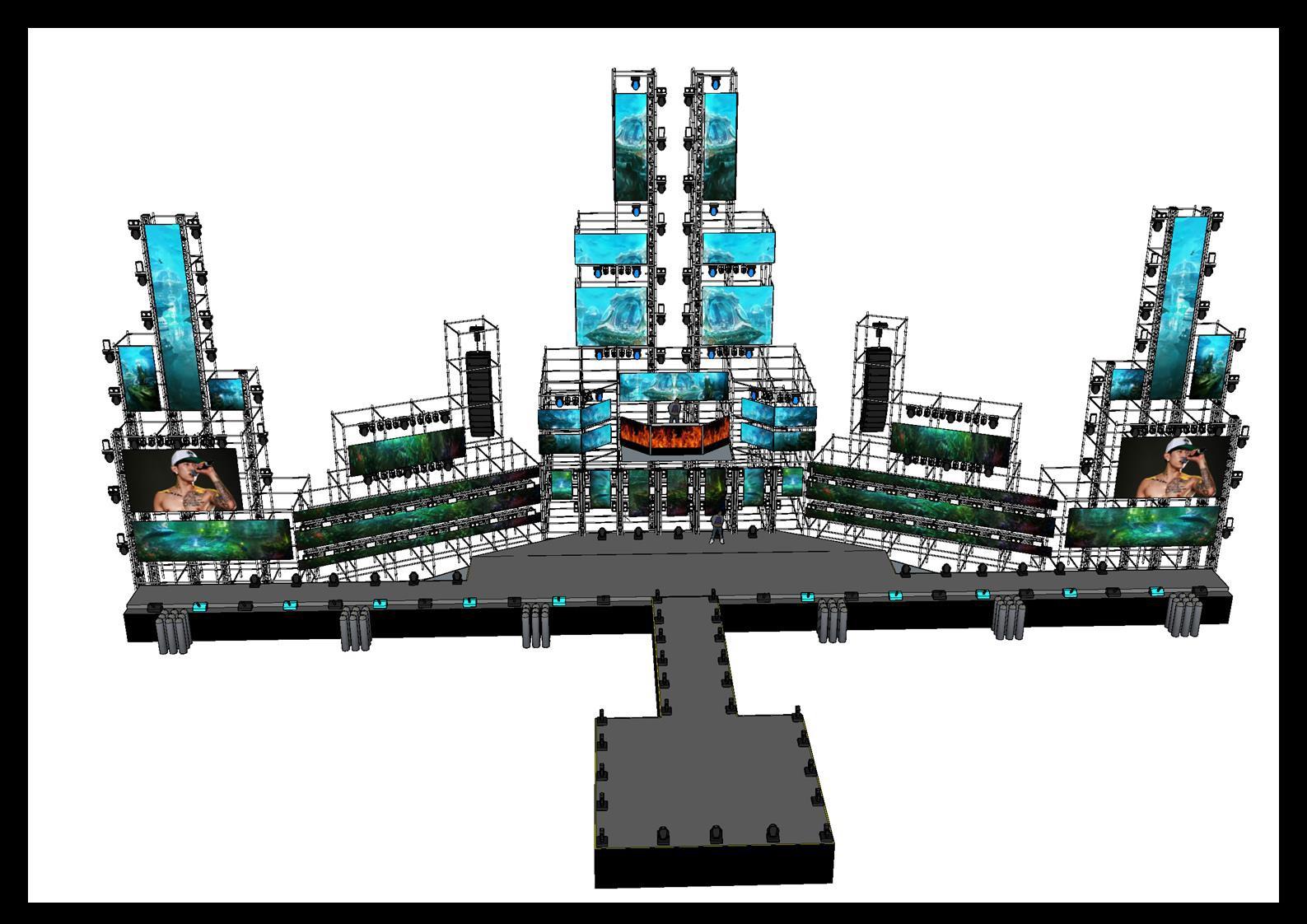 Lộ diện sân khấu Aqua League: Pháo đài nước khổng lồ sử dụng 100 tấn thiết bị và những khó khăn chưa từng tiết lộ - Ảnh 1.