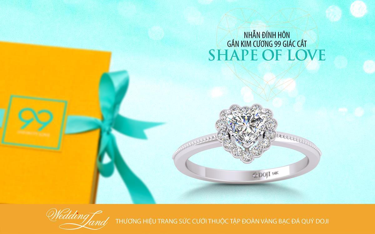 Hậu vệ Bùi Tiến Dũng cầu hôn bạn gái bằng nhẫn kim cương Shape of Love - Ảnh 3.
