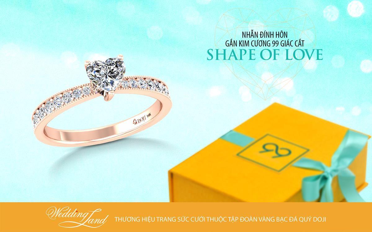 Hậu vệ Bùi Tiến Dũng cầu hôn bạn gái bằng nhẫn kim cương Shape of Love - Ảnh 4.