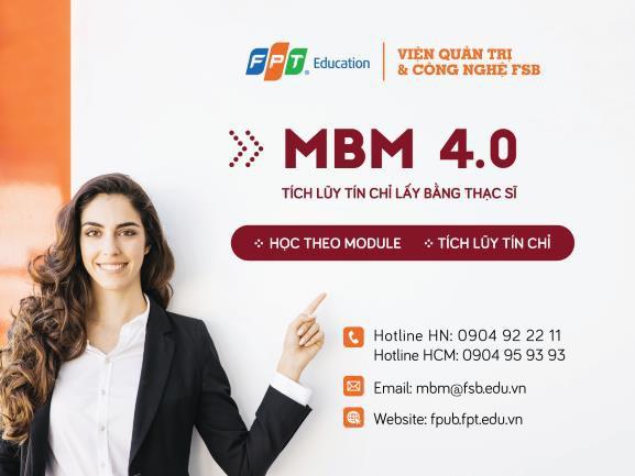 Lựa chọn chương trình, tích lũy tín chỉ, nhận bằng thạc sĩ với MBM 4.0 - Ảnh 1.