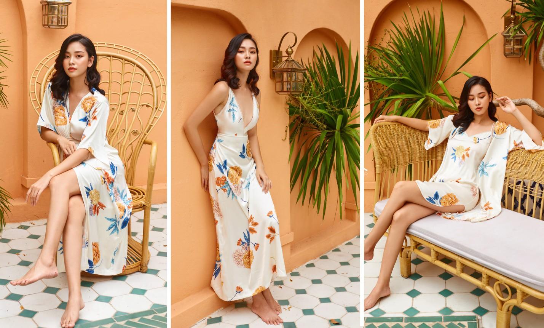 Tropical '19 Collection – Xu hướng váy lụa nhiệt đới cho những chuyến đi mùa hè - Ảnh 3.