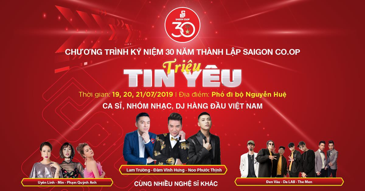 Lam Trường, Đàm Vĩnh Hưng, Noo Phước Thịnh góp mặt trong chuỗi sự kiện của Saigon Co.op tại phố đi bộ Nguyễn Huệ - Ảnh 1.