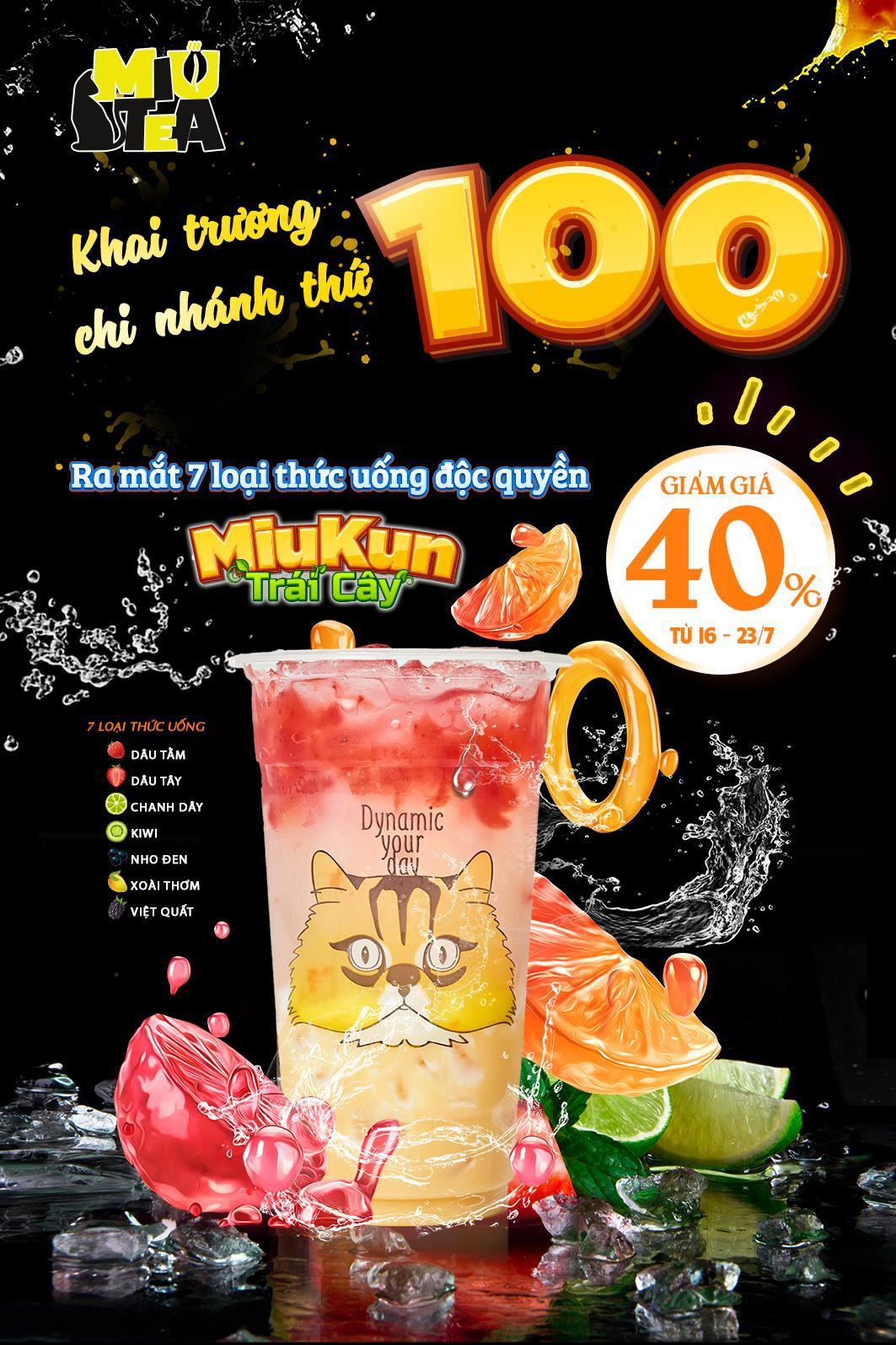 Chương trình ưu đãi đặc biệt của Miu Tea - Chào mừng cơ sở thứ 100 ra đời! - Ảnh 1.