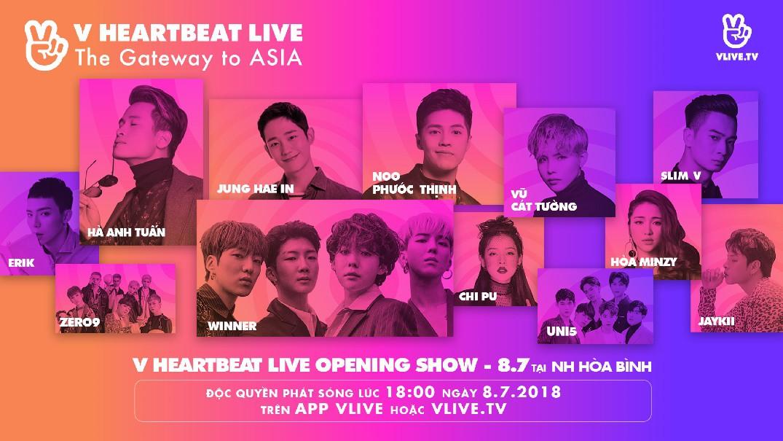 Loạt nghệ sĩ Việt - Hàn gửi lời chúc mừng V Heartbeat 1 năm tuổi - Ảnh 1.