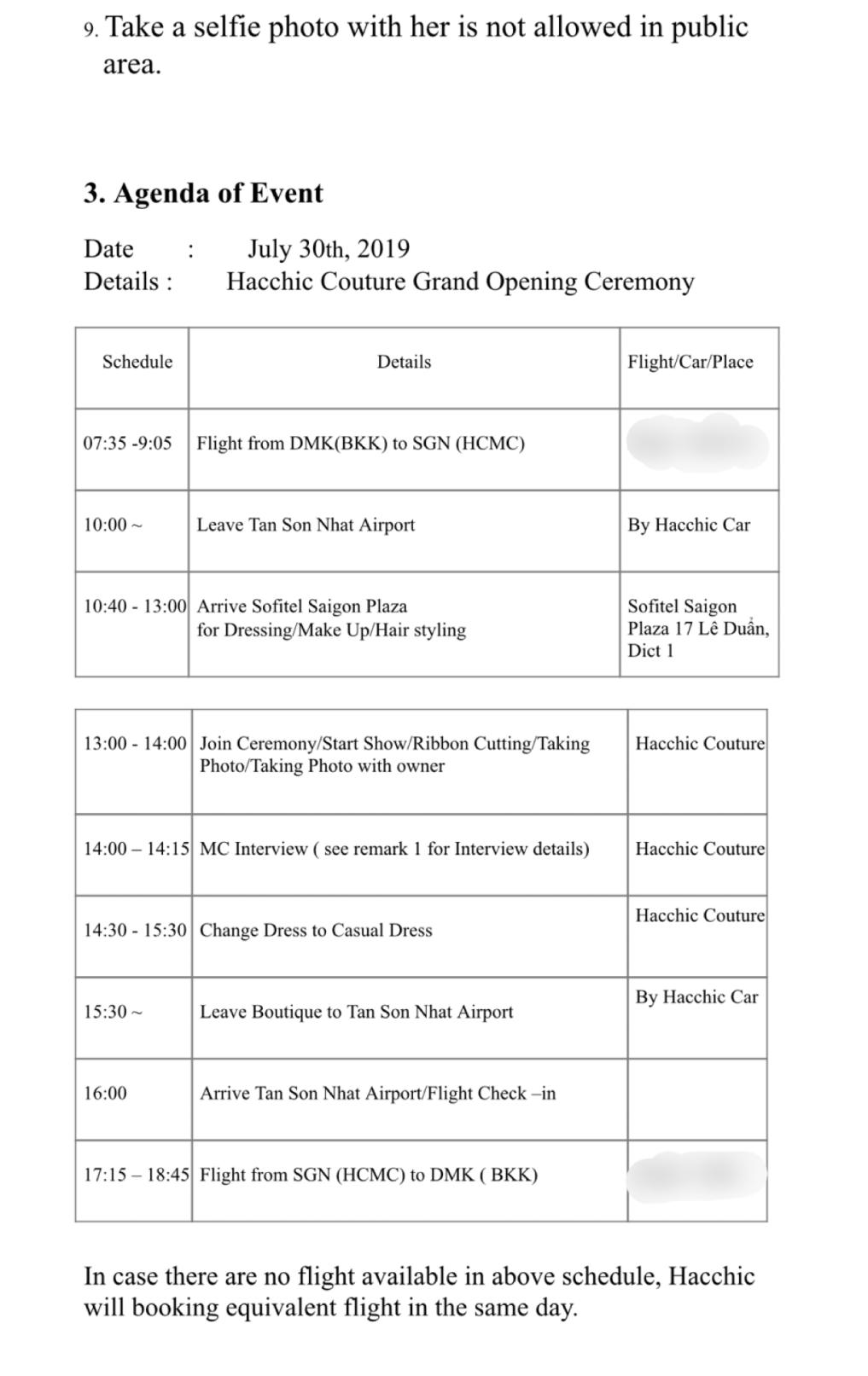 Để nhận lời tham gia sự kiện tại Việt Nam, phía mỹ nhân Chiếc Lá Cuốn Bay yêu cầu những gì? - Ảnh 2.