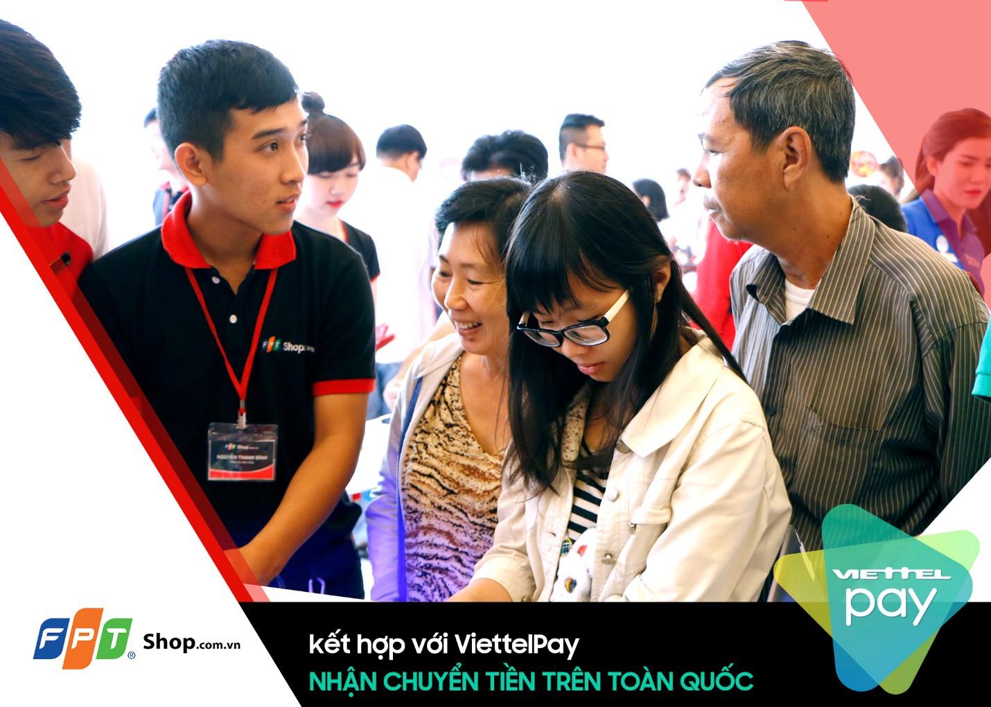 Đã có thể chuyển tiền trên toàn quốc thông qua dịch vụ ViettelPay tại FPT Shop - Ảnh 1.