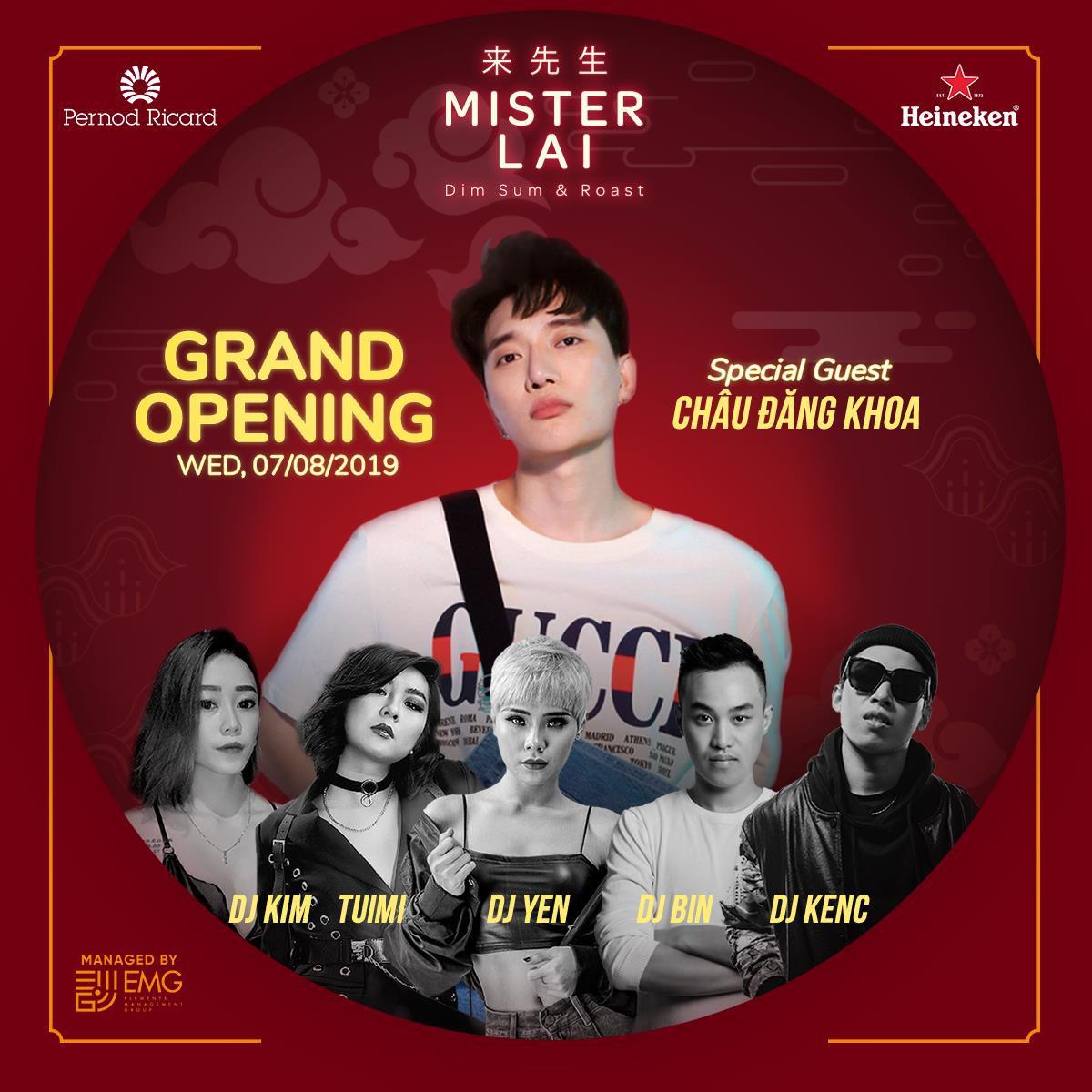 Châu Đăng Khoa, Tuimi sẽ khuấy động Nha Trang trong grand opening Mister Lai - Ảnh 1.