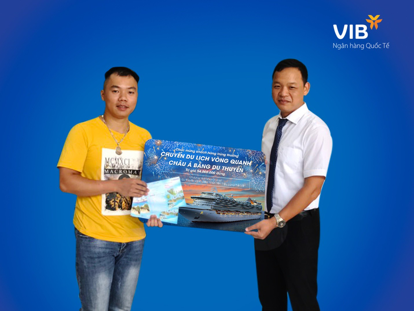 Chủ thẻ tín dụng VIB thứ 3 trúng cặp vé du thuyền châu Á - Ảnh 1.