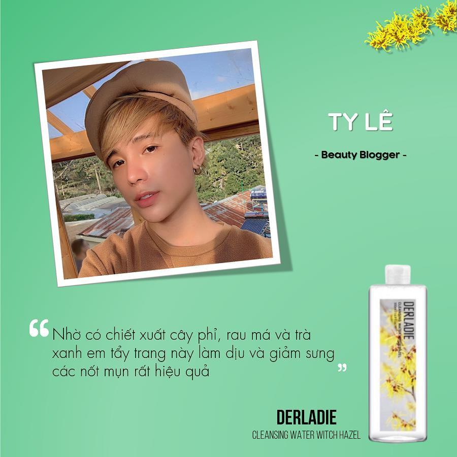 Beauty blogger Ty Lê, Đào Bá Lộc nói gì về nước tẩy trang Derladie Witch Hazel? - Ảnh 3.