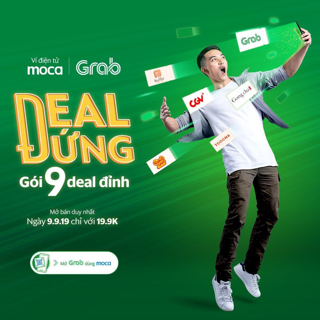 """Ngày 9/9 mở app Grab """"giựt"""" gói ưu đãi 9 deal đỉnh, mua vé CGV chỉ 9k, Gong Cha thả ga chỉ 19k - Ảnh 1."""