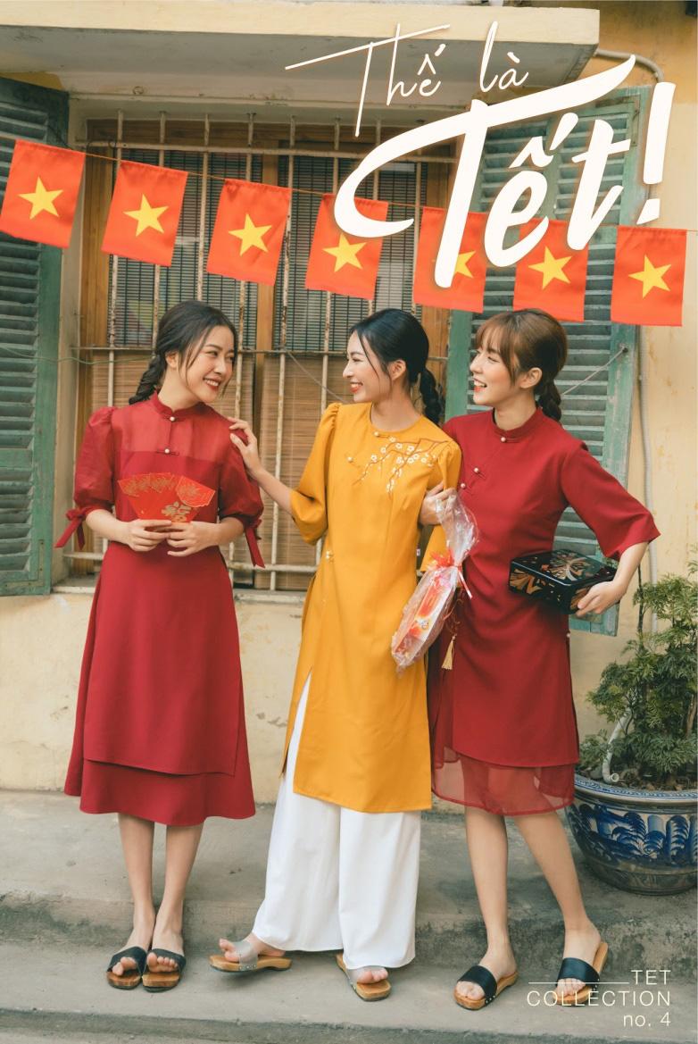 Diện đẹp đón Tết Canh Tý với mẫu áo dài họa tiết lạ mắt - Ảnh 4.