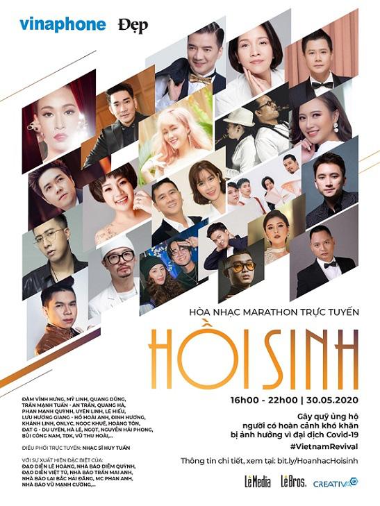 Hoà nhạc trực tuyến thiện nguyện với sự tham gia của 30 nghệ sĩ hàng đầu Việt Nam - Ảnh 2.