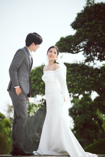 Ngất ngây bộ ảnh cưới đẹp như mơ tại vườn Nhật Bản Vinhomes Smart City - Ảnh 6.