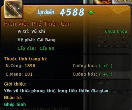 Những trang bị Hoàng Kim chỉ xuất hiện tại Webgame Võ Lâm Truyền Kỳ VNG