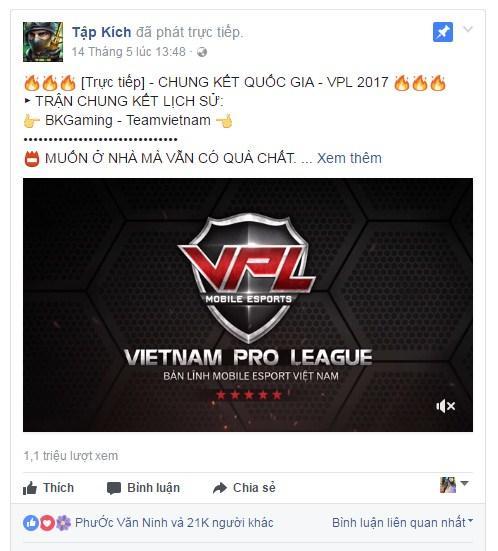 Không phải tự nhiên Tập Kích là cái tên nổi bật nhất VPL 2017