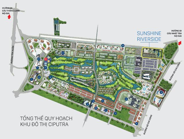 Tổng thể quy hoạch khu đô thị Ciputra
