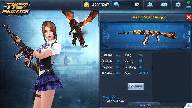 AK47 Gold Dragon