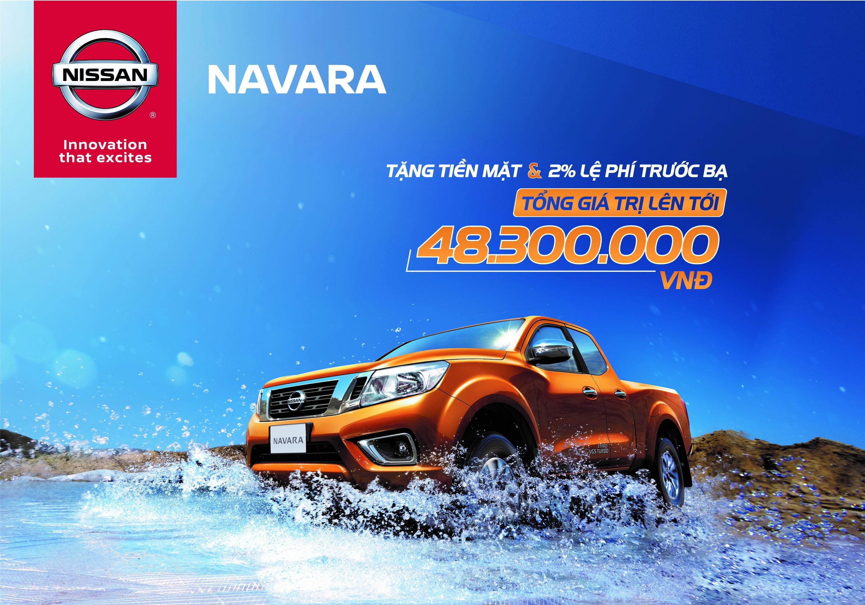 Khuyến mại đặc biệt dành cho Navara EL và Navara VL trong tháng 8