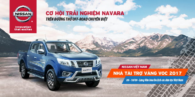 Nissan là nhà tài trợ Vàng lần thứ 3 liên tiếp của Giải đua xe ô tô địa hình Việt Nam (VOC) 2017