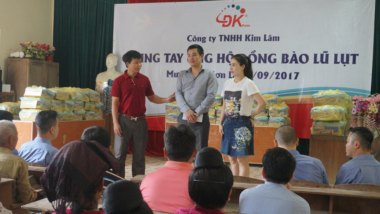 """Công ty TNHH Kim Lâm – Sơn DK """"chung tay ủng hộ đồng bào lũ lụt"""" tại Sơn La"""