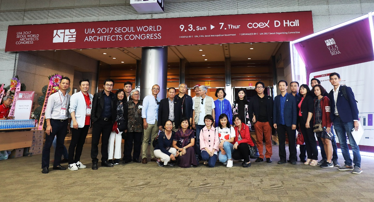 Alinco vinh dự được Hội kiến trúc sư Việt Nam lựa chọn tham dự triển lãm tại Hàn Quốc