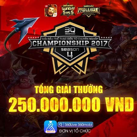 360mobi Championship mùa 4 khởi tranh với hàng trăm triệu đồng tiền thưởng