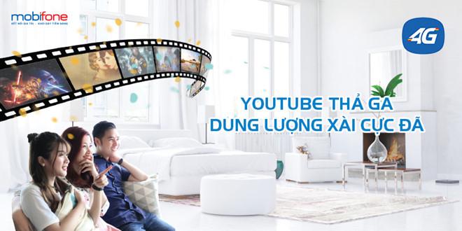 Cơ hội xem Youtube và FPT Play bằng 4G MobiFone siêu đỉnh chỉ với 65.000đ/tháng