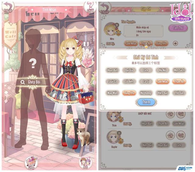 Idol Thời Trang nổi bật với tính năng kết đôi và tương tác trong game