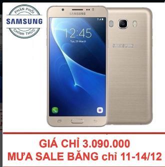 Samsung J7 2016 hiện có giá khoảng 5,490,000, giảm còn 3,090,000 trên Lazada (11-14/12)