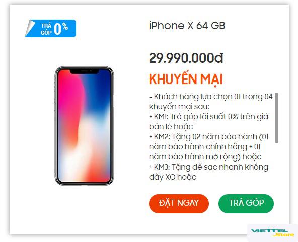 Mách nhỏ cơ hội mua iPhone X chính hãng giá chỉ từ 8.997.000 đồng - Ảnh 2.