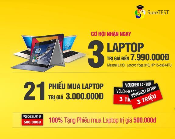 FPT Shop tặng laptop cùng hàng trăm voucher đến 3 triệu đồng cho sĩ tử Thi thử THPT Quốc gia - Ảnh 1.