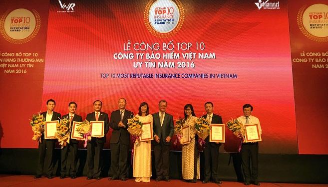 PJICO thuộc Top 10 DNBH Việt Nam uy tín năm 2016, lợi nhuận 6 tháng tăng 22%