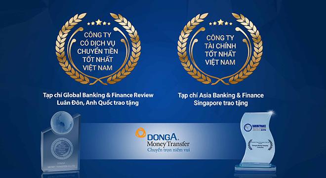 Công ty kiều hối Đông Á liên tiếp nhận hai giải thưởng quốc tế lớn trong năm 2016