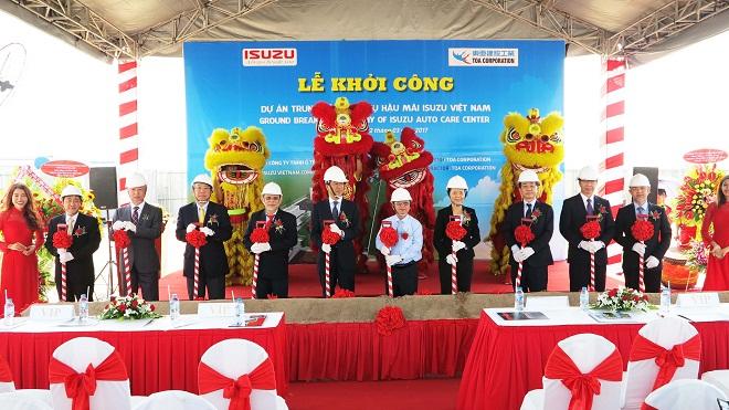 Isuzu Việt Nam khởi công xây dựng trung tâm dịch vụ hậu mãi tại Khu công nghiệp Tân Phú Trung
