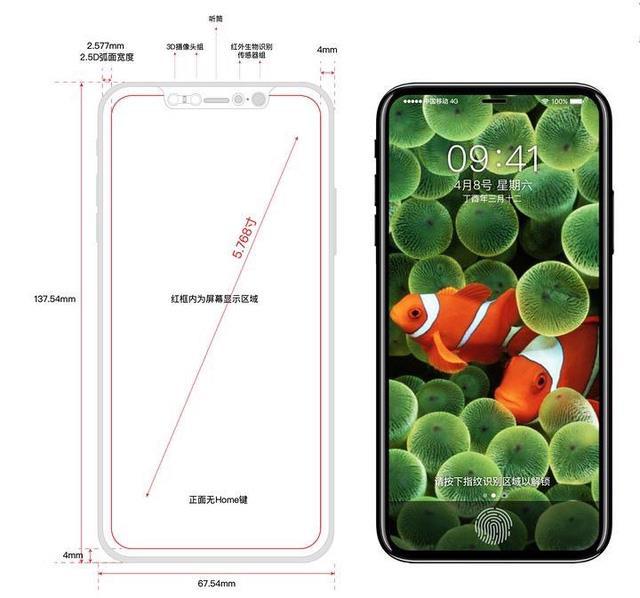 Thiết kế rò rỉ của iPhone 8, rất giống Galaxy S8 nhưng phải 6 tháng nữa mới ra mắt.
