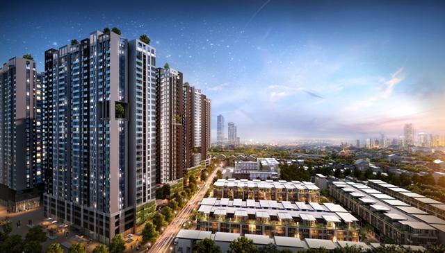 HaDo Centrosa Garden có quy mô 6,85ha với 2 phân khu nhà phố hạng sang và căn hộ cao cấp.