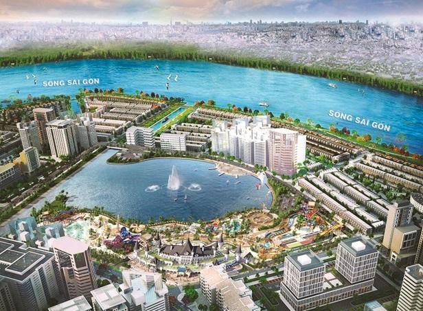 Phối cảnh tổng thể công viên giải trí tầm cỡ quốc tế Ocean World Ho Chi Minh.