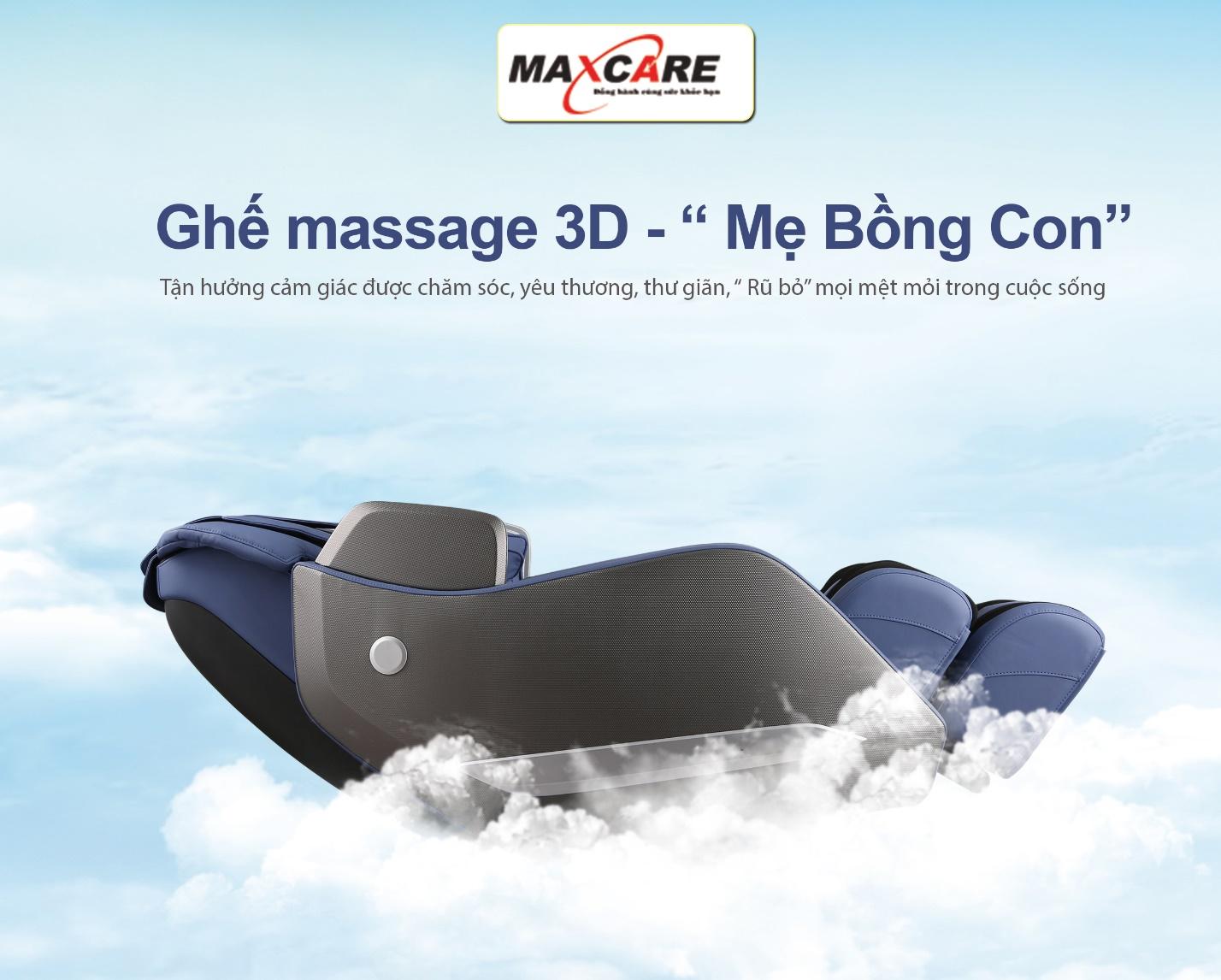 Ghế massage bập bênh Mẹ Bồng Con Maxcare Max669 – Với nhiều cải tiến hiện đại.