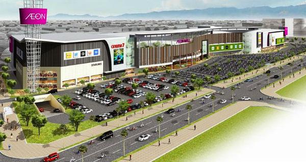 Sự xuất hiện của siêu thị Aeon Mall với quy mô 95.000m2 là điểm nhấn quan trọng giúp khu Tây Nam trỗi dậy mạnh mẽ.