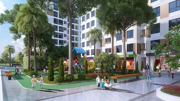 Không gian sống xanh ngập tràn tại Valencia Garden.
