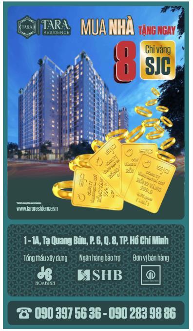 Khách hàng sẽ nhận ngay quà tặng khi đặt mua căn hộ tại Tara.