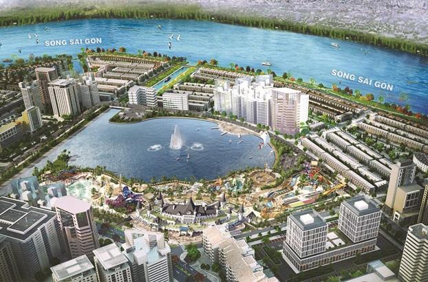 Chủ đầu tư đang đẩy nhanh triển khai hạ tầng công viên giải trí Ocean World Ho Chi Minh để kịp tiến độ khởi công cuối năm 2017.