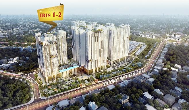 Iris 1 & 2: Tòa tháp căn hộ đẹp nhất HaDo Centrosa Garden chờ đón chủ nhân