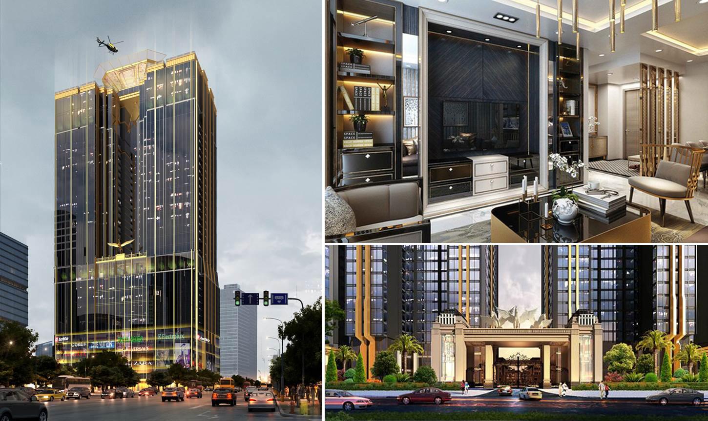 Tòa nhà Sunshine Center có thiết kế đậm chất nghệ thuật lấy cảm hứng từ Trump Tower.